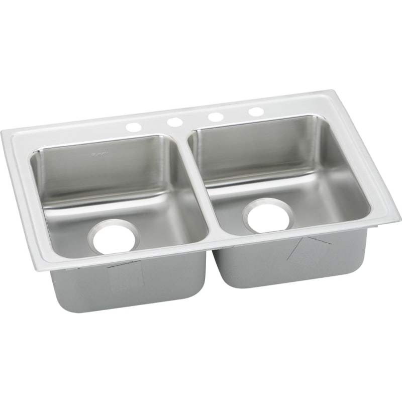 33 X 21 Three Hole Double Bowl ADA Sink Stainless Steel