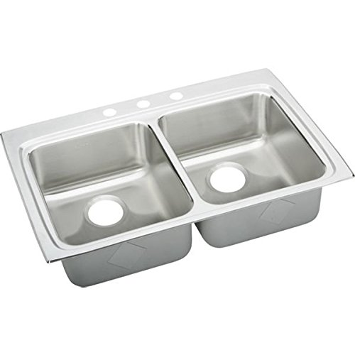33X22X6-1/2 4 Hole Double Bowl ADA Stainless Steel SINK