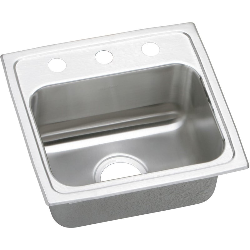 """17"""" x 16"""" x 5-1/2"""" 3 Hole 1 Bowl ADA Stainless Steel Sink"""