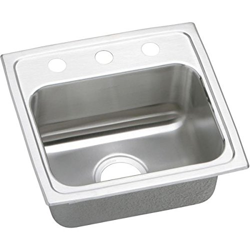 "17"" x 16"" 3 Hole 1 Bowl ADA Stainless Steel Sink"