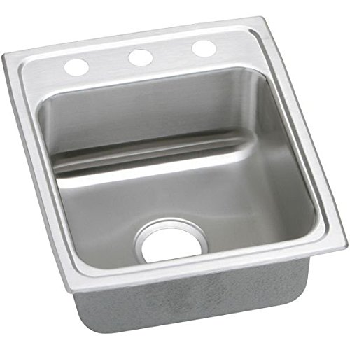 "17"" x 20"" 3 Hole 1 Bowl ADA Stainless Steel Sink"