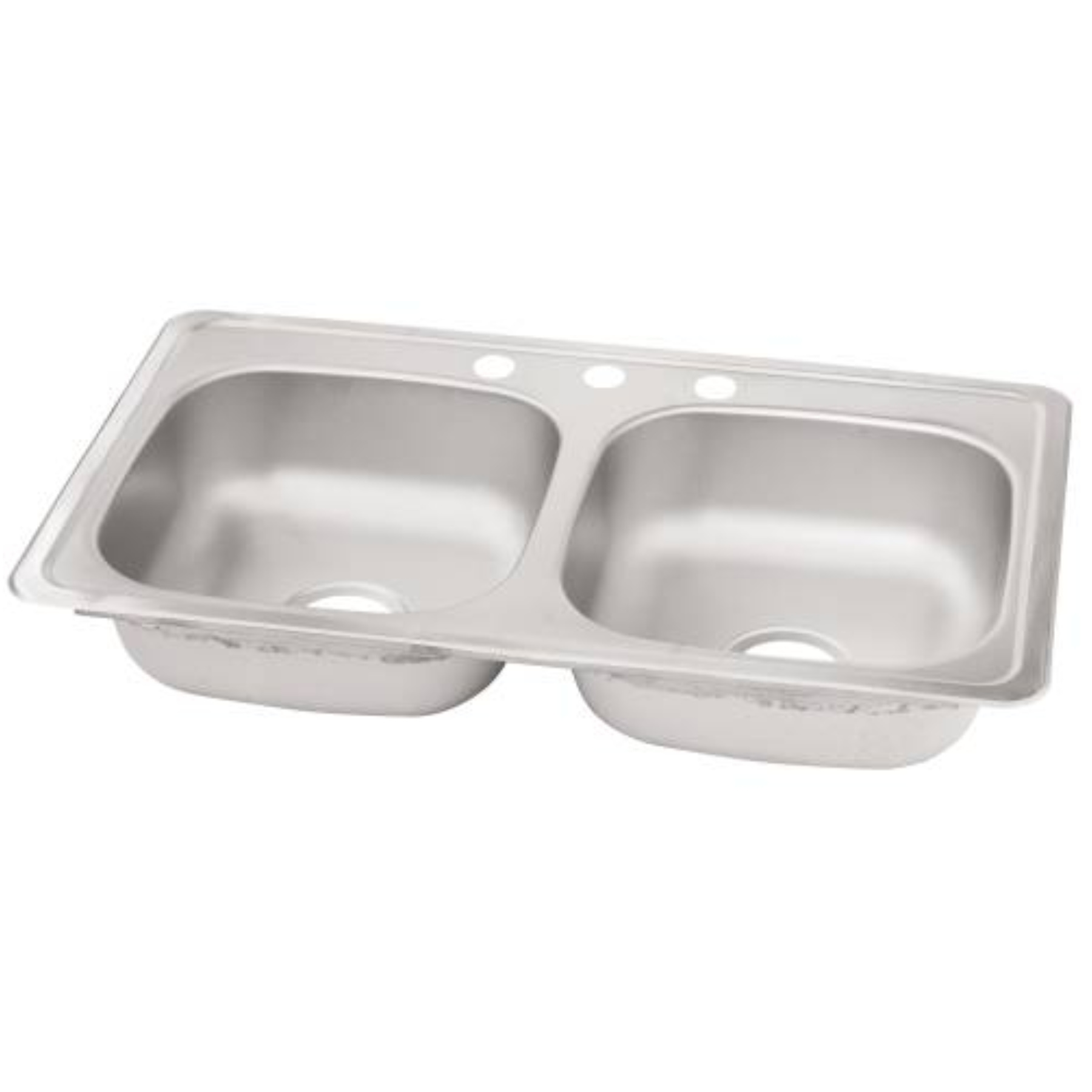 ELKAY� KITCHEN SINK, STAINLESS STEEL, 33X22X6 IN.