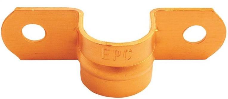 TUBE STRAP COPPER 3/8 IN