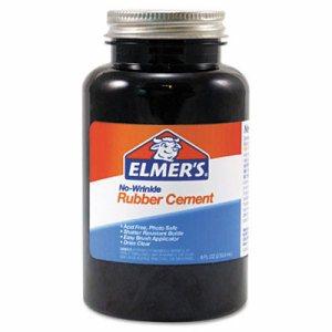 Rubber Cement, Repositionable, 8 oz