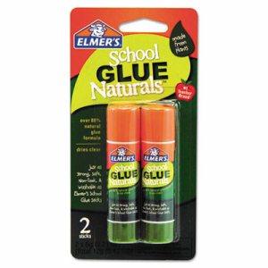 School Glue Naturals, Clear, 0.21 oz Stick, 2 per Pack