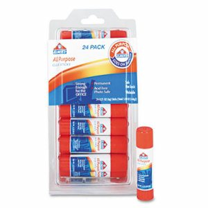 Disappearing Glue Stick, 0.21 oz, 24/Pack