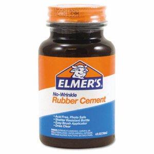 Rubber Cement, Repositionable, 4 oz