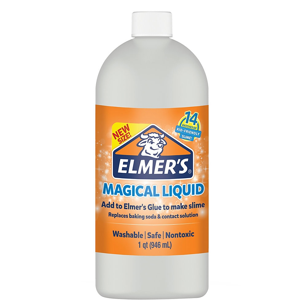 Glue Slime Magical Liquid Activator Solution, 32 oz, Dries Clear