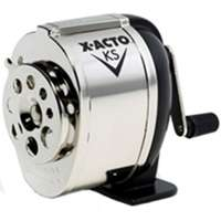 X-Acto KS Manual Pencil Sharpener, 4-1/4 in L X 2-3/4 in W X 4-3/4 in D, Steel