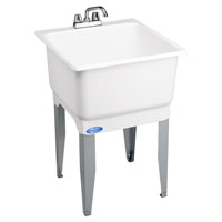 Utilatub 14CP Combo Economy Laundry/Utility Tub, 33 in H X 23 in W X 25 in D, Co-Polypure, White