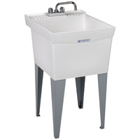 Utilatub 19CF Combo Deluxe Laundry/Utility Tub, 34 in H X 20 in W X 24 in D, Thermoplastic