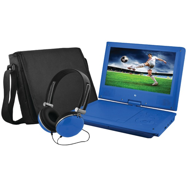 "Ematic EPD909BU 9"" Portable DVD Player Bundles (Blue)"