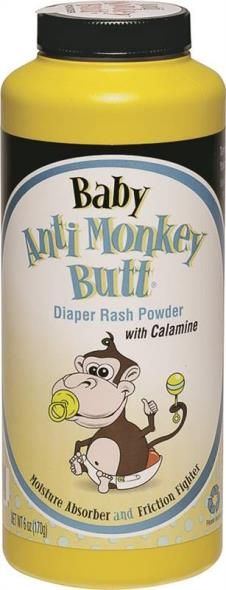 Anti Monkey Butt 815006 Baby Powder, 6 oz, Bottle, Powder