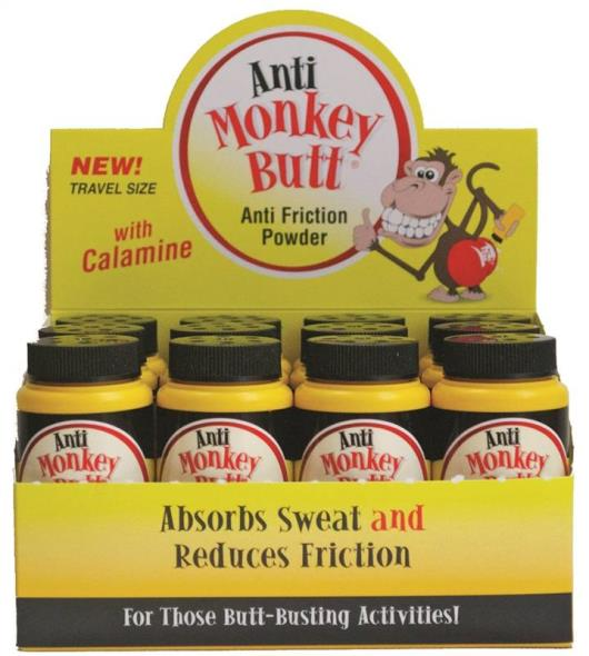 Anti Monkey Butt 817015 Travel Size Anti-Friction Powder, 1.5 oz, Bottle, Powder