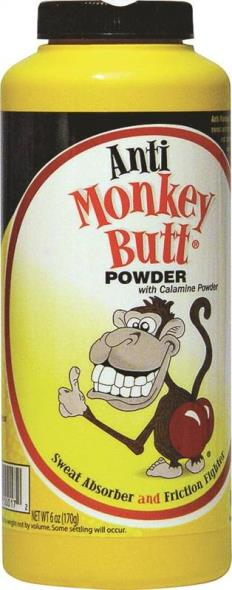 Anti Monkey Butt 817006 Original Anti-Friction Powder, 6 oz, Bottle, Powder