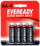 4Pk Aa Heavy Duty Battery