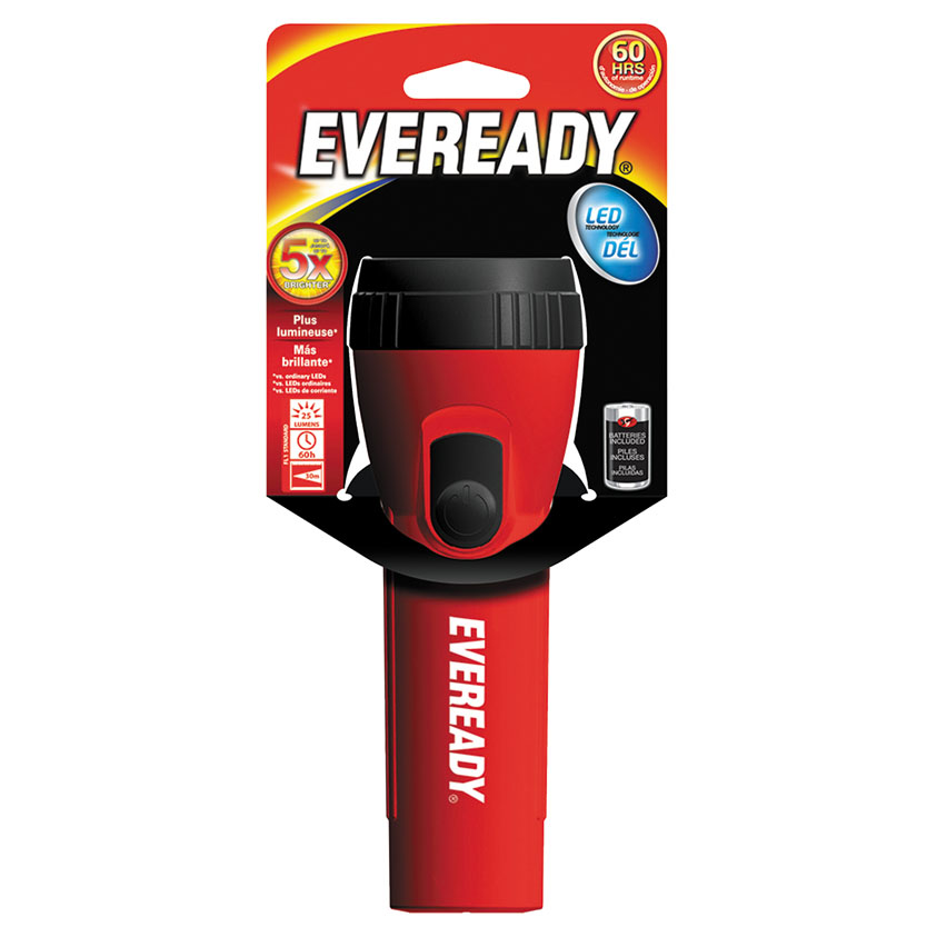 Eveready Economy 3151LBP Flashlight, LED, 50 hr