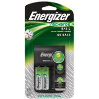 Energizer CHVCWB2 Value Plug-In Battery Charger, Ni-MH/AA/AAA, 1700 mAh, 13 - 18 hr, 4 Battery