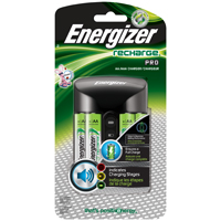 Energizer CHP4WB4 Smart Battery Charger, Ni-MH/AA/AAA, 1400 mAh, 4 Battery