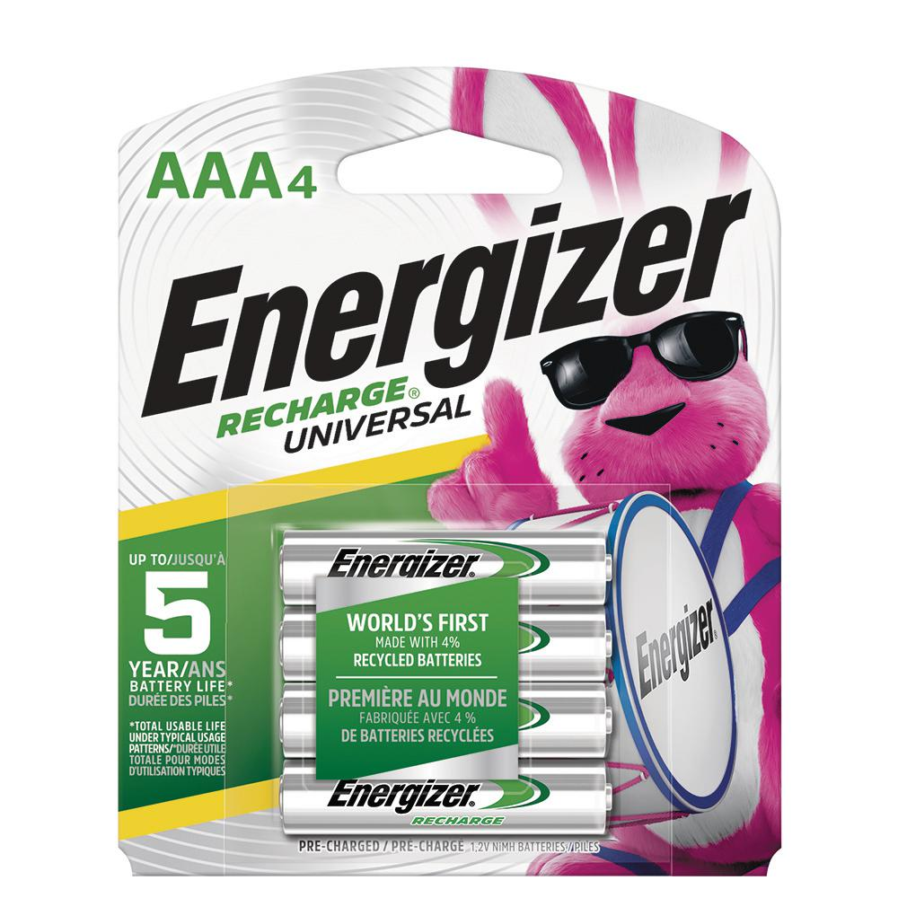 Energizer AAA Rechargeable Batteries Power Plus 700 mAh Pre-