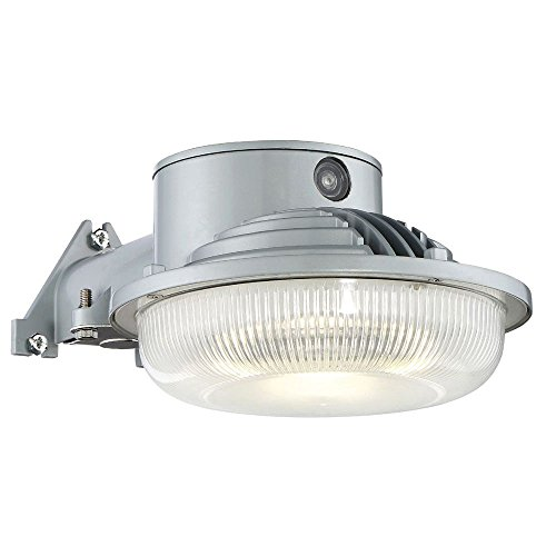 ENVIROLITE� LED DUSK TO DAWN SINGLE-HEAD OUTDOOR WALL FLOOD LIGHT, GRAY, INTEGRATED LED INCLUDED