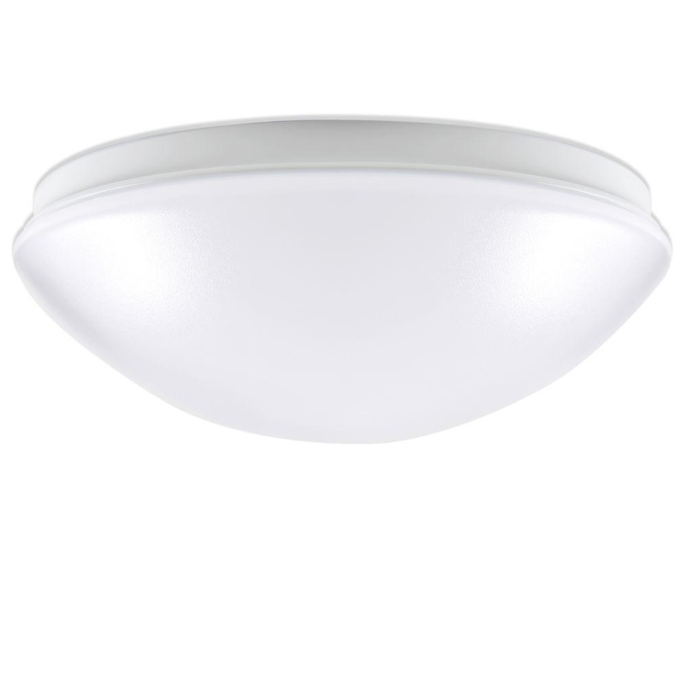 ENVIROLITE� LED ROUND FLUSH MOUNT CEILING FIXTURE, WHITE, 11 IN., INTEGRATED LED INCLUDED