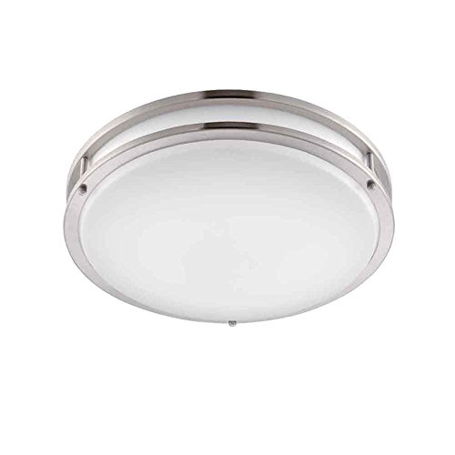 ENVIROLITE� LED LOW PROFILE CEILING FIXTURE, BRUSHED NICKEL, 14 IN., INTEGRATED LED INCLUDED