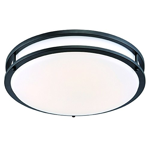 ENVIROLITE� LED LOW PROFILE CEILING FIXTURE, OIL RUBBED BRONZE, 16 IN., INTEGRATED LED INCLUDED
