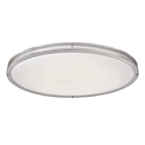 ENVIROLITE� LED LOW PROFILE CEILING FIXTURE, BRUSHED NICKEL, 32 IN., INTEGRATED LED INCLUDED