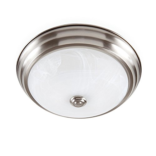 ENVIROLITE� LED FLUSH MOUNT CEILING FIXTURE, BRUSHED NICKEL, 11 IN., INTEGRATED LED INCLUDED