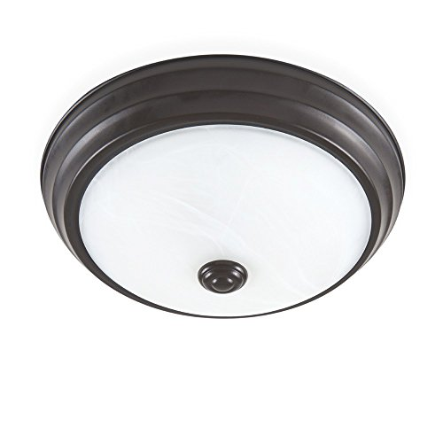 ENVIROLITE� LED FLUSH MOUNT CEILING FIXTURE, SATIN BRONZE, 11 IN., DIMMABLE, INTEGRATED LED INCLUDED