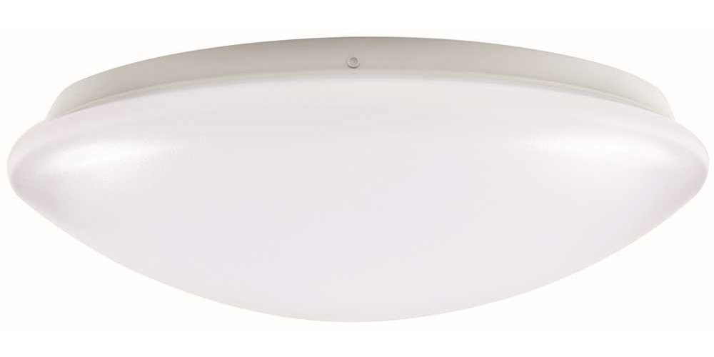 ENVIROLITE� LED ROUND FLUSH MOUNT CEILING FIXTURE, WHITE, 14 IN., INTEGRATED LED INCLUDED