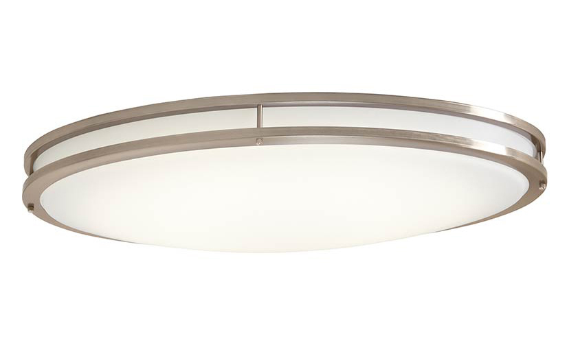 ENVIROLITE� LED LOW PROFILE CEILING FIXTURE, BRUSHED NICKEL, 24 IN., INTEGRATED LED INCLUDED