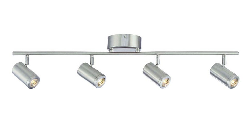 ENVIROLITE� 4-LIGHT LED TRACK FIXTURE, 3 FT., STRAIGHT BAR, BRUSHED NICKEL, DIMMABLE, INTEGRATED LED INCLUDED