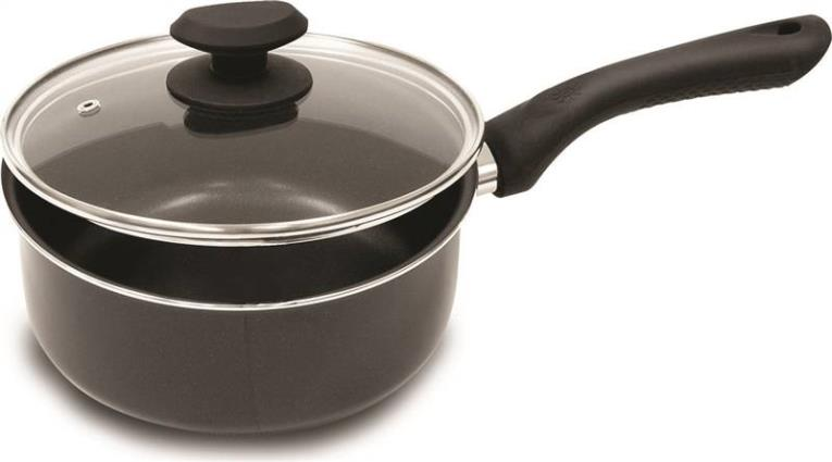 Ecolution EABK-2820 Sauce Pan With High Dome Glass Lid, 3 qt Capacity, 17 in L x 15 in W x 9 in H, Aluminum