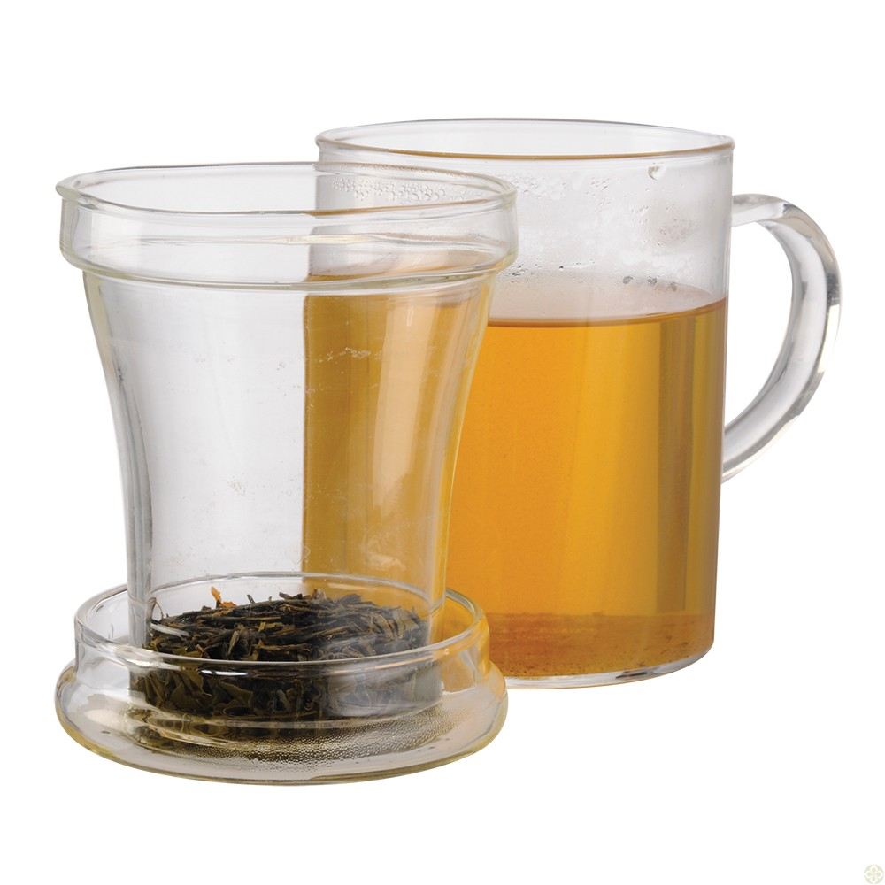 PRIMULA PTA3512DST CLEAR PERSONAL TEA MAKER MUG 12 OZ LOOSE