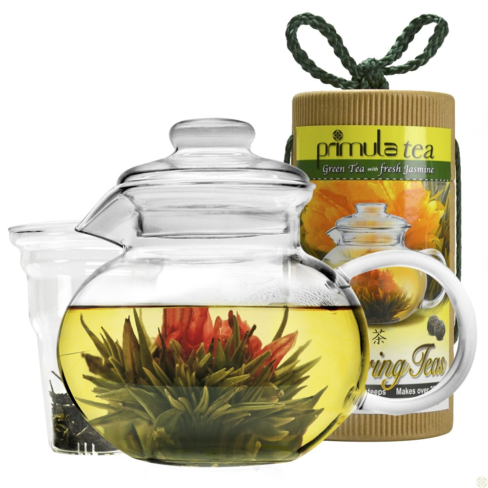 PRIMULA PTA4002DST FLOWERING TEA GIFT SET 40 OZ TEAPOT