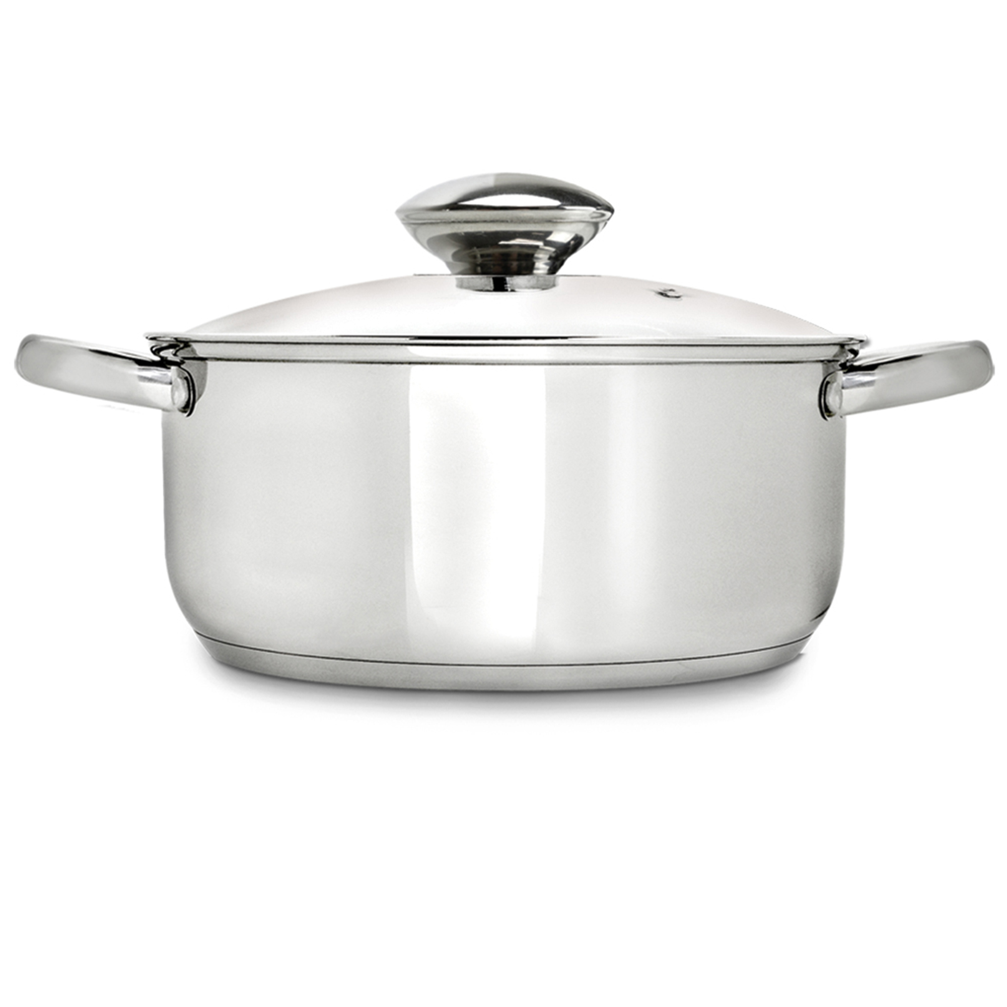 Ecolution Estl4505 Steel Dutch Oven 5 Quart Tempered Glass Lid