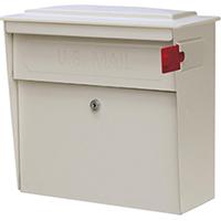 Townhouse 7173 Locking Mailbox 15.8 in W x 16.1 in D x 7-1/2 in H, 14/16 ga Steel, White