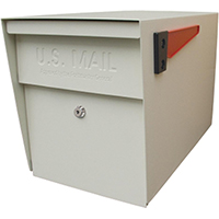 Mail Boss 7107 Packagemaster Curbside Ultimate Locking Security Mailbox 11-1/4 in W x 21 in D x 13-3/4 in H