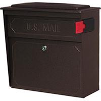 Townhouse 7174 Locking Mailbox 15.8 in W x 16.1 in D x 7-1/2 in H, 14/16 ga Steel, Bronze