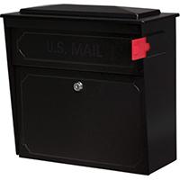 Townhouse 7172 Locking Mailbox 15.8 in W x 16.1 in D x 7-1/2 in H, 14/16 ga Steel, Black