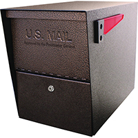 Mail Boss 7208 Packagemaster Curbside Ultimate Locking Security Mailbox 11-1/4 in W x 21 in D x 13-3/4 in H