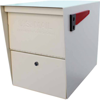 Solar 7207 Security Master Mailbox, 16-1/2 in W x 21-1/2 in D x 12 in H, White