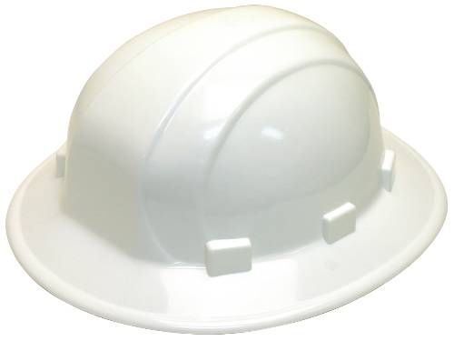 HARD HAT WITH FULL BRIM WHITE