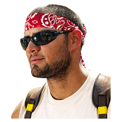 Chill-Its 6700/6705 Bandana/Headband, One Size Fits All, Red Western