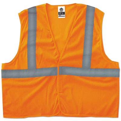 GloWear 8205HL Type R Class 2 Super Econo Mesh Vest, Orange, L/XL