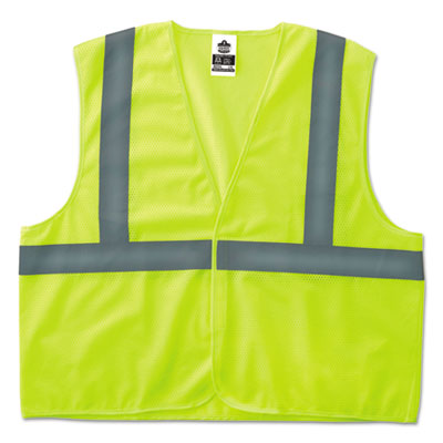 GloWear 8205HL Type R Class 2 Super Econo Mesh Safety Vest, Lime, Small/Medium