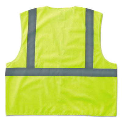 GloWear 8205HL Type R Class 2 Super Econo Mesh Safety Vest, Lime, 2X-/3X-Large