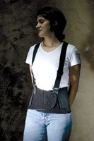 Ergodyne+ Large ProFlex+ 1650 Black Economy Elastic Back Support Belt With Detachable Suspenders